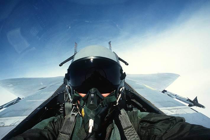 Pilot u borbenom avionu
